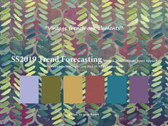 SpringSummer2019 Trend Forecasting for Women, Men, Intimate, Sport Apparel - Vintage french oak elements www.JudithNg.com
