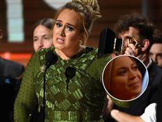"""Adele dedica premio do Grammy a Beyoncé e a leva as lagrimas   Adele transformou seu discurso de premiação do grammy em uma declaração de amor a Beyoncé que ficou emocionada.  A cantora Adele ganhou os prêmios mais conceituados da noite como """"musica do ano album do ano e gravação do ano"""".  Com as vitórias Adele coleciona agora 15 prêmios e se tornou recordista: pela primeira vez na história da premiação um artista ganhou as três principais categorias em duas edições. A empolgação de Adele…"""