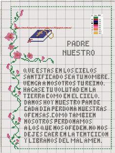 GRAFICOS PUNTO DE CRUZ GRATIS : LA CREACION DE ADAN Y EVA Y RELIGIOSOS(11)