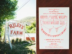 farm wedding invitation