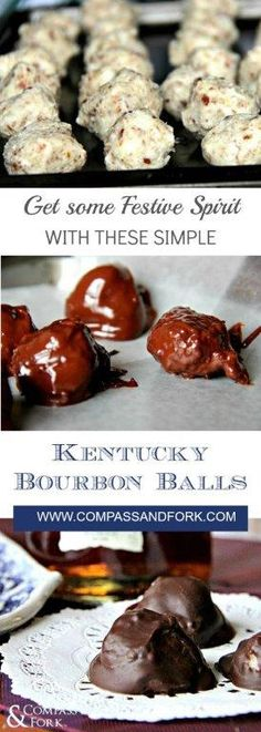 Get Some Festive Spirit with These Simple Kentucky Bourbon Balls Hillbilly Food, Fall Recipes, Real Food Recipes, Bourbon Balls, Supper Club, Southern Comfort, Paleo Dessert, Christmas Goodies, Yummy Cookies