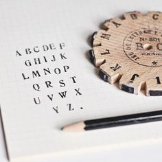 Vintage French Alphabet Rubber Stamps | Flickr - Photo Sharing!