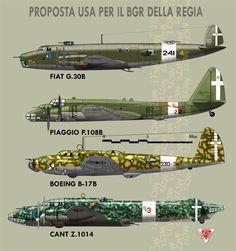 Vari bombardieri a lungo raggio proposti prima della guerra dagli Americani al comando militare della Regia Aeronautica.