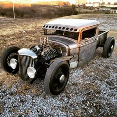 1934 Bare Metal Ford Pickup