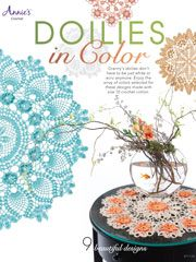 Crochet doilies make great travel patterns! This book of 9 crochet doily patterns makes for a colorful travel companion.