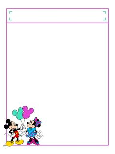 "Balloons with title box - Project Life Disney Journal Card - Scrapbooking. ~~~~~~~~~ Size: 3x4"" @ 300 dpi. This card is **Personal use only - NOT for sale/resale** Logos/clipart belong to Disney. ***Click through to photobucket to see this this card with lots of different characters***"