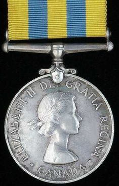 Queen's Korea Medal, Canadian Issue in Silver.