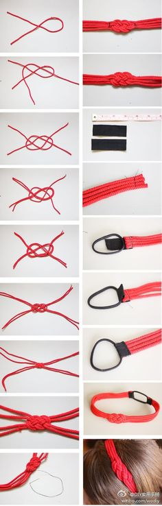 DIY Chinese Knot Headband DIY Chinese Knot Headband by diyforever