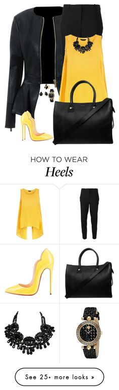 """Untitled #642"" by mariacaniuca on Polyvore featuring Delfina, MICHAEL Michael Kors, Versace, Kendra Scott, River Island and Paul & Joe"