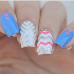 Create a modern X pattern nail design with these Right Angle Nail Stencils! Right Angle Nail Stickers make DIY nail art easy. 15 Right Angle Nail Vinyls in all. New Nail Designs, Beautiful Nail Designs, Super Cute Nails, Pretty Nails, Hair And Nails, My Nails, Nail Stencils, Chevron Nails, Claw Nails