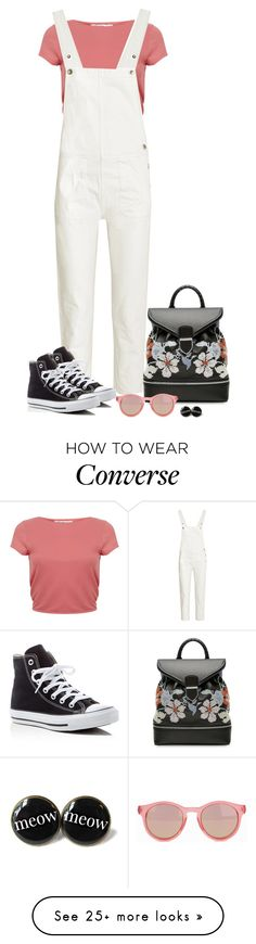 """Made of Stone."" by tuomoon on Polyvore featuring Miss Selfridge, M.i.h Jeans, Alexander McQueen, Converse, Le Specs, TrickyTrend and overalls"