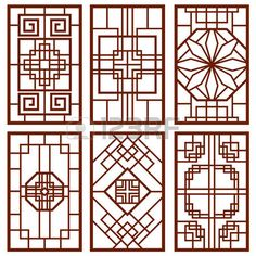Illustration about Traditional korean door and window ornament, chinese wall design, japan frames vector set. Illustration of banner, classic, background - 85122828 Chinese Wall, Korean Design, Chinese Design, Traditional Doors, Traditional Design, Traditional Chinese, Interior Chino, Chinese Ornament, Ancient Chinese Architecture