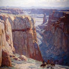 "Edgar Payne  Blue Canyon, 1929  Oil on Canvas  34"" x 34"""