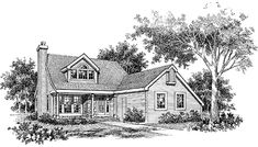 Country House Plan with 1078 Square Feet and 2 Bedrooms from Dream Home Source | House Plan Code DHSW43561