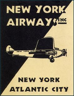 Vintage Airline Luggage Labels  1924 ~ 1952