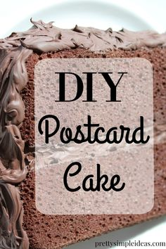DIY piece of cake that you can mail!