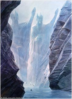 The Argonath by John Howe, another one of my favorite artists
