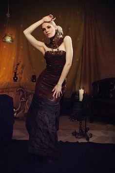 Sensual Steampunk tribal amazon dress Lorena by RosiesHouseOfSteam, $389.00