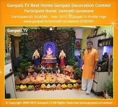 Decoration Pictures, Decorating With Pictures, Ganesh Chaturthi Decoration, Ganpati Festival, Marathi Quotes, Ganpati Bappa, Festival Decorations, Picture Video, Tv