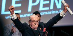 """France. Jean-Marie Le Pen estime qu'en 2012, Marine Le Pen a voulu """" rompre avec la dimension sociale et nationale """" du FN. Juin 2015"""
