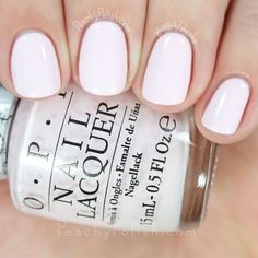 OPI - let's be friends., OPI - let's be associates. OPI - let& be associates. OPI - let& be associates. Essie, White Nail Art, White Nails, Pale Pink Nails, Lady Like, Opi Nails, Opi Pink Nail Polish, Toe Polish, Nagel Gel