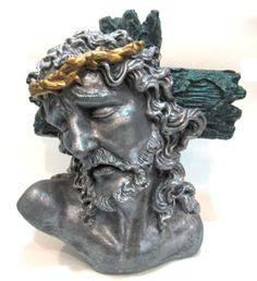 Ateliê Le Mimo: RELIGIOSO  Cristo crucificado - peça em gesso