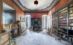 Abandoned library Abandoned Library, Abandoned Buildings, Derelict Places, Abandoned Places, Explore, Photography, Home, Aesthetics, Books