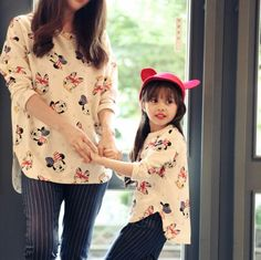 2pcs/lot Spring New Mom And Child T shirt Long sleeve mother and daughter clothes Irregular hem t shirts family set clothes-in Family Matching Outfits from Mother & Kids on Aliexpress.com | Alibaba Group