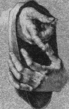 Advanced Embroidery Designs - Albrecht Durer. Study of Hands.