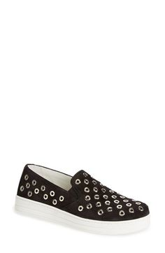 Prada Grommet Slip-On Sneaker (Women) available at #Nordstrom