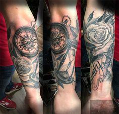 Armslee in progress Kompass frisch, rest abgeheilt #forlifecolor #inked #tattoochris #christattoo #tattooraubling #nofilter #ink #instatattoo #kompass #rosestattoo #sanduhr #armsleeve #inprogress #blackandgreytattoo #tattoo #inkstagram #tattoodesign #tattooartist #tattoo #tattoos #tattoostyle #tattooidea #tattooedmen #tattoolife #tattoolovers #tattooart #tattooed