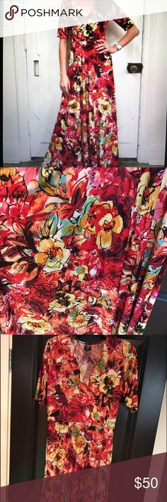 Agnes & Dora Sweet Sunshine Day Austen Dress Slinky, maxi dress with pockets! EUC! Worn once. agnes & dora Dresses Maxi
