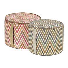 Missoni Home Nesterov poufs Stool, Chair, Floor Cushions, Outdoor Furniture, Outdoor Decor, Missoni, Ottoman, Flooring, Poufs
