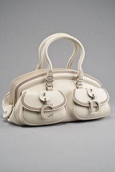5e83307f64cd Christian Dior Ivory Medium Detective Handbag