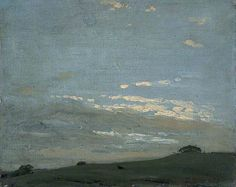 The Silver Sunset by William Nicholson 1909–1910 Oil on canvas laid on board, 32.8 x 40.9 cm