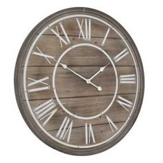 Bleach Effect Wooden Wall Clock £104.00. Home accessory, statement clock for the kitchen, hallway, living area or study. From our Clocks range at Tessera.