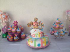 Lalaloopys Birthday Cake Girl Birthday, Birthday Parties, Birthday Cake, Party Ideas, Cakes, My Style, Girls, Desserts, Food