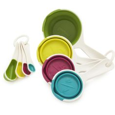Chef'n® Trendy Colors Pinch-and-Pour Measuring Cups and Spoons Set   Sur La Table