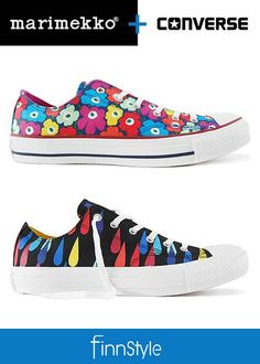 They have now joined. Marimekko, Kid Shoes, Chuck Taylor Sneakers, I Love Fashion, Converse Shoes, Finland, Retro Vintage, High Top Sneakers, Cool Outfits