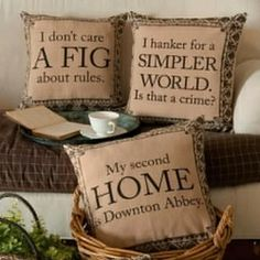 Downton Abbey Inspired Pillows and Linens