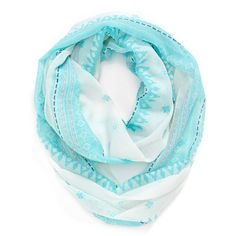 Accessories 212 Geometric Print Infinity Scarf ($14) ❤ liked on Polyvore featuring accessories, scarves, light blue combo, circle scarf, tube scarf, round scarves, infinity scarf and infinity scarves