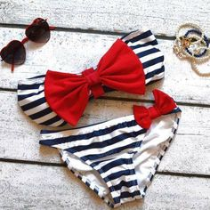 Nautical. adorable swim suit