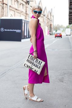 14 Street-Style Snaps From Down Under #refinery29  http://www.refinery29.com/australian-fashion-week-pictures#slide7  Nothing miserable about this look.Similar finds: