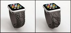 3D Printed Apple Watch Bands Soon Available from 3D Systems and FreshFiber http://3dprint.com/49787/apple-watch-bands-3d-printed/