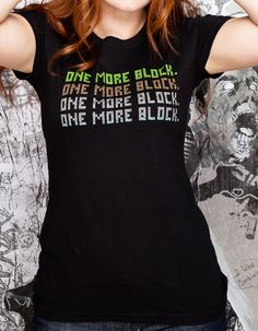 J!NX : Minecraft One More Block Women's Tee - Clothing Inspired by Video Games & Geek Culture