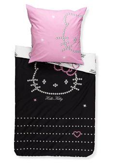 Hello Kitty Diamond | Hello Kitty - DIAMOND - Bettwäsche - black