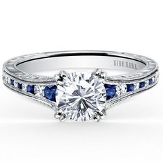 Kirk Kara Stella Blue Sapphire & Diamond Channel Set Engagement Ring · K1140BDC-R · Ben Garelick Jewelers