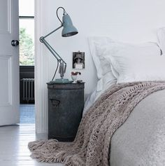 A bedside table can really make or break the bedroom look. It doesn't have to be a boring element of your bedroom design; so get interior design savvy and Bedside Storage, Diy Nightstand, Bedside Tables, Bedside Lamp, Narrow Nightstand, Bedside Cabinet, Serene Bedroom, Dream Bedroom, Cozy Bedroom