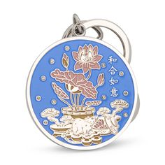 The annual amulet features the ruling animal sign of the year the Rat with Lotus and Ingots on one side, and the Dragon (ally of the Rat) with Ru Yi and Ingots on the other. Feng Shui Books, Feng Shui Cures, Cat Keychain, Incense Holder, Crown Royal, Pocket Watch, Zodiac, Crystals, Rat
