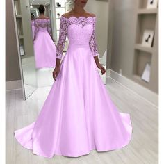 New Plus Size Luxury High Quality Women Off Shoulder Long Lace Sleeve Elegant Solid Bridesmaid Wedding Maxi Dress Lace Patchwork Floor Length Princess Evening Party Long Porm Dress Maxi Dress Wedding, Bridesmaid Dresses, Lace Sleeves, Dresses With Sleeves, Sexy Dresses, Evening Dresses, Lace Dress, Evening Party, High Waist